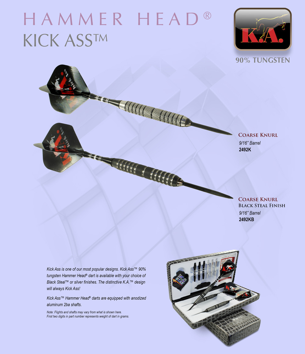 Kick Ass™ Hammer Head® Darts